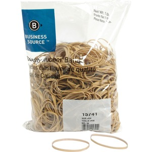 "Business Source Quality Rubber Band - Size: 32 - 3"" Length x 0.12"" Width - Sustainable, Biodegradable - 1 Bag - Rubber - Crepe"
