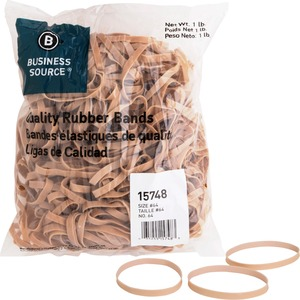 Business Source Quality Rubber Band - Size: 64 - 3.25&quot; Length x 0.25&quot; Width - Sustainable, Biodegradable - 1 Bag - Rubber - Crepe