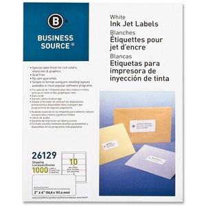 Business Source Mailing Inkjet Label BSN26129