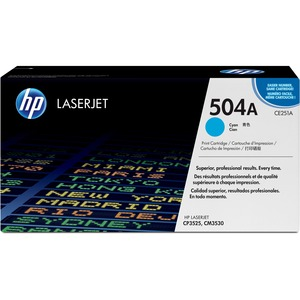 HP 504A Cyan Original LaserJet Toner Cartridge for US Government HEWCE251AG