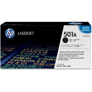 HP 501A Black Original LaserJet Toner Cartridge for US Government HEWQ6470AG