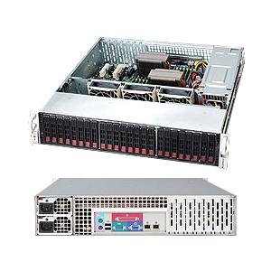 Supermicro Superchassis 216E16-R1200LPB 2U Rackmount 24SAS/SATA 2.5IN Expander EATX 1200W Redundant