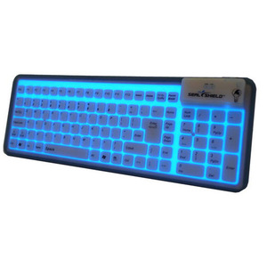 Seal SHIELD Seal GLOW2 Washable Keyboard (Black) Quick Connect Silicone LED Backlit Anti
