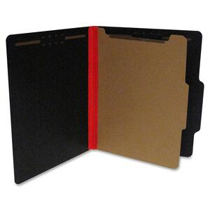 "SJ Paper S62611 Fusion Classification Folder - Letter - 8.5"" x 11"" - 2/5 Tab Cut on Right of Center - 1 Divider - 1.5"" Expansion - 2 Fastener - 20 / Box - 25pt. - Red, Black"