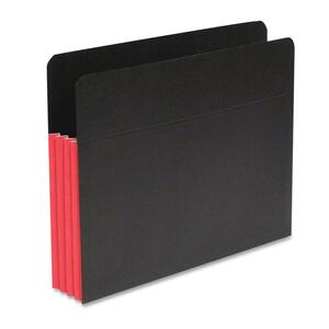 "SJ Paper S83611 Fusion Expanding Clutch Pocket - Letter - 8.5"" x 11"" - 5.25"" Expansion - 10 / Box - 23pt. - Red, Black"