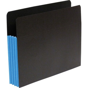 "SJ Paper S83604 Fusion Expanding Clutch Pocket - Letter - 8.5"" x 11"" - 3.5"" Expansion - 25 / Box - 23pt. - Blue, Black"