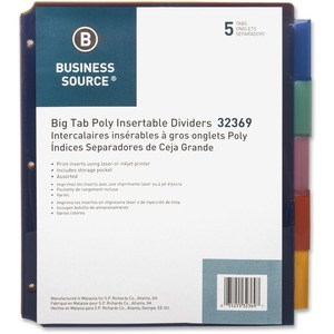 Business Source Single Pocket Index Divider BSN32369