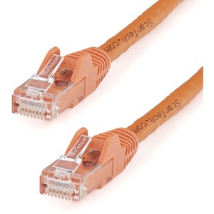 STARTECH 35FT CAT6 ORANGE PVC SNAGLESS RJ45 TO RJ45 24AWG UTP PATCH CABLE