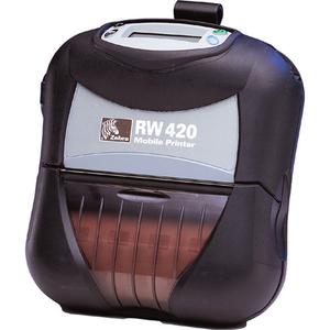Zebra RW 420 Direct Thermal Printer - Monochrome - Portable - Receipt Print R4P-7U0A0100-00
