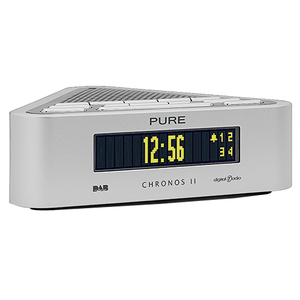 pure chronos ii stylish dab fm clock alarm radio white ebay. Black Bedroom Furniture Sets. Home Design Ideas