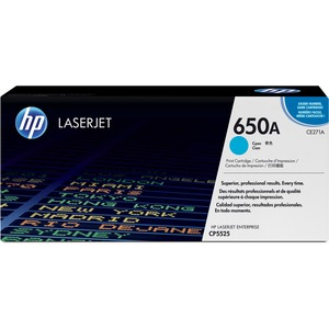HP 650A Cyan Original LaserJet Toner Cartridge HEWCE271A