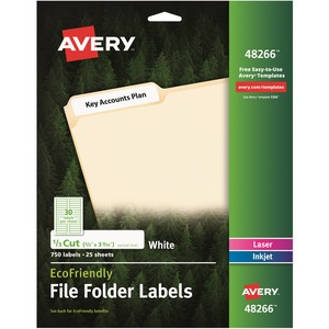 Avery EcoFriendly Multipurpose File Folder Label AVE48266