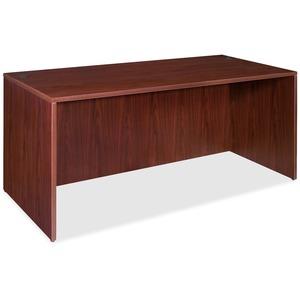 Lorell Essentials Rectangular Desk Shell - 70.9 X 35.6 X 29.5 X 1 - Finish: Laminate, Mahogany