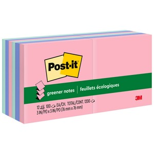 Post-it Greener Pop-up Notes in Sunwashed Pier Colors MMMR330RP12AP