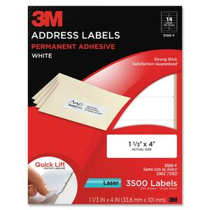 3M Address Label MMM3100Y