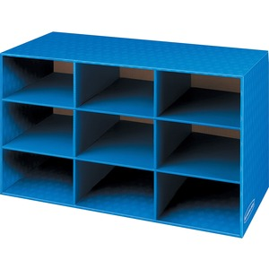 FELLOWES BANKERS BOX CLASSROOM CUBBY W/CHANNELS BLUE 4/CARTON