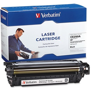 Verbatim HP CE250A Remanufactured Black Toner Cartridge (Color LaserJet 3530 MFP, CM3530FS MFP, CM3525DN, CM3525N,CM3525X) VER97482
