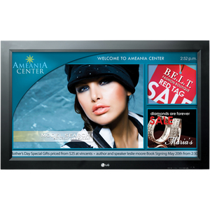 LG 37INCH Commercial Signage LCD HDTV 1080p 1920X1080 10000:1 500 CD/M2 HDMI D-Sub A/V RS-232C