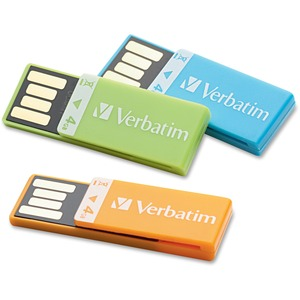 Verbatim 4GB Clip-it 97563 Flash Drive - 3 Pack VER97563