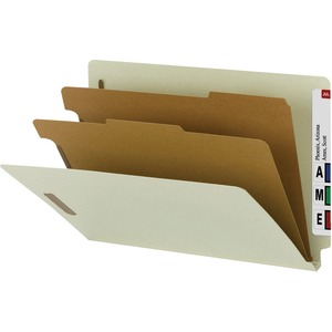 29802 Gray/Green 100% Recycled End Tab Classification Folders