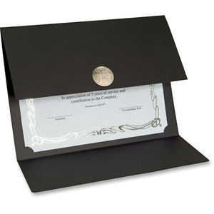 Elite Medallion Fold Certificate Holders with Silver Medallion