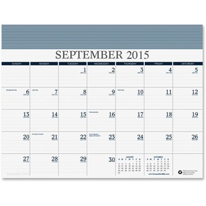 "House of Doolittle 16 Month Calendar Refill - 8.5"" x 11"" - September till December - 1 Month Per 1 Page(s) - Blue, White"
