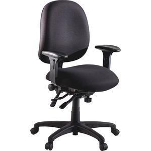 Lorell High Performance Task Chair - Black Seat - Black Back - Metal Frame - 5-star Base - 20 Seat Width X 20 Seat Depth - 27.3 Width X 25.3 Depth X 41.5 Height