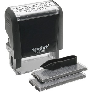 "U.S. Stamp & Sign Do-It-Yourself Self-inking Stamp - 0.75"" x 1.88"" - Black"