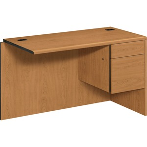 "HON 10715R Box/File Right Return - 48"" Width x 24"" Depth - 2 Drawer - Harvest"