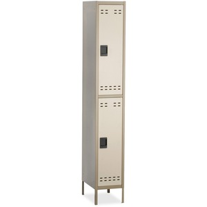 Safco Double-Tier Two-tone Locker with legs SAF5523TN