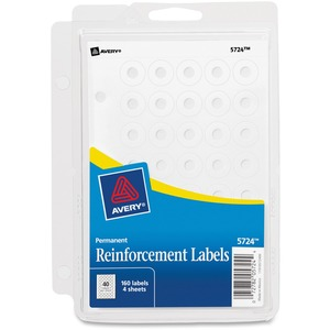 Avery Reinforcement Label with Binder Clip AVE05724