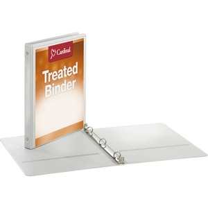 Cardinal Antimicrobial ClearVue Round Ring Binder CRD32250