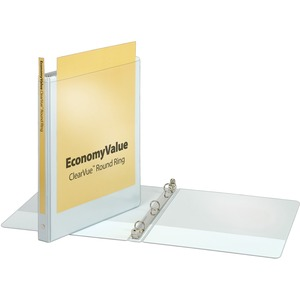 Cardinal EconomyValue ClearVue Round Ring Binder CRD90011