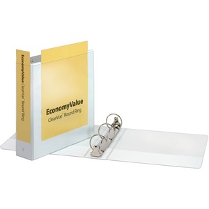 Cardinal EconomyValue ClearVue Round Ring Binder CRD90081