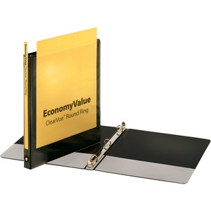 Cardinal EconomyValue ClearVue Round Ring Binder CRD90010