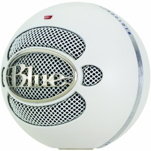 Blue Microphones Snowball USB Microphone - White - Omnidirectional Mode w/ Tripod Mic Stand