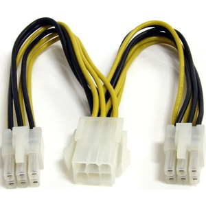STARTECH 6IN PCIE POWER SPLITTER CABLE M/F