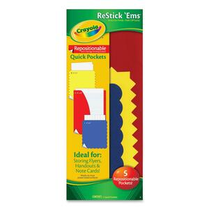 Crayola Restick'Ems Repositionable Quick Pockets CYO044903