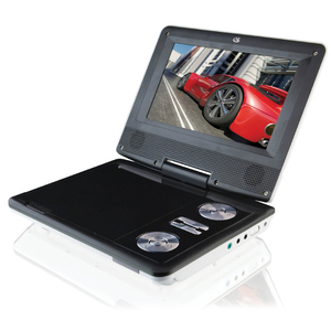 DIGITAL PRODUCTS GPX DVD PLAYER. PORTABLE. 7 inch LCD display. 16:9 ratio. 480x234. Built in Rech