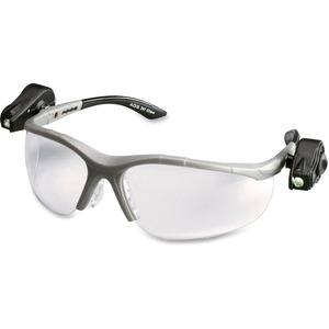 3M Lightvision Protective Eyewear - Built-in Led, Adjustable Temple, Anti-fog - Ultraviolet Protection - Polycarbonate Lens - Clear - 1 Each