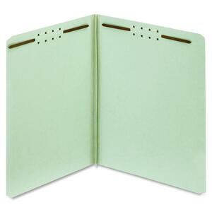 Globe-Weis Pressboard Folders with Fastener, Light Green GLW24921