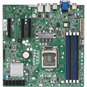 Tyan S5510GM3NR mATX Xeon LGA1155 C204 4XDDR3 6XSATA RAID 3XGBE VGA IPMI 2.0 Server Motherboard