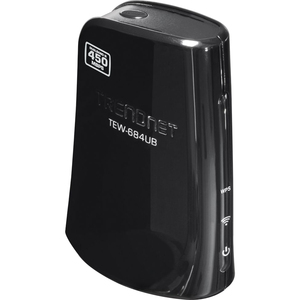 TRENDnet TEW-684UB IEEE 802.11n USB - Wi-Fi Adapter - 450 Mbps - 328.1 ft Indoor Range - External