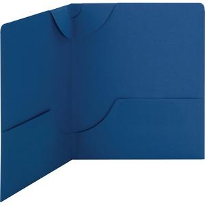 87982 Dark Blue Lockit Two-Pocket File Folder