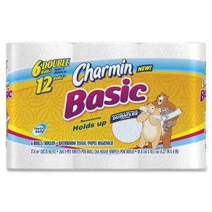 Charmin Basic Double Roll Bathroom Tissue PAG50908PK