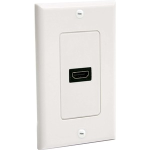 STARTECH HDMIPLATE SINGLE OUTLET FEMALE HDMI WALL PLATE WHITE