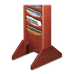 Buddy Literature Wall Racks Single Wood Base BDY61717