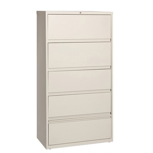 Lorell Receding Lateral File with Roll Out Shelves LLR43512