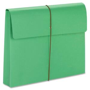 77204 Green Expanding Wallets with Elastic Cord