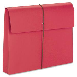 77205 Red Expanding Wallets with Elastic Cord